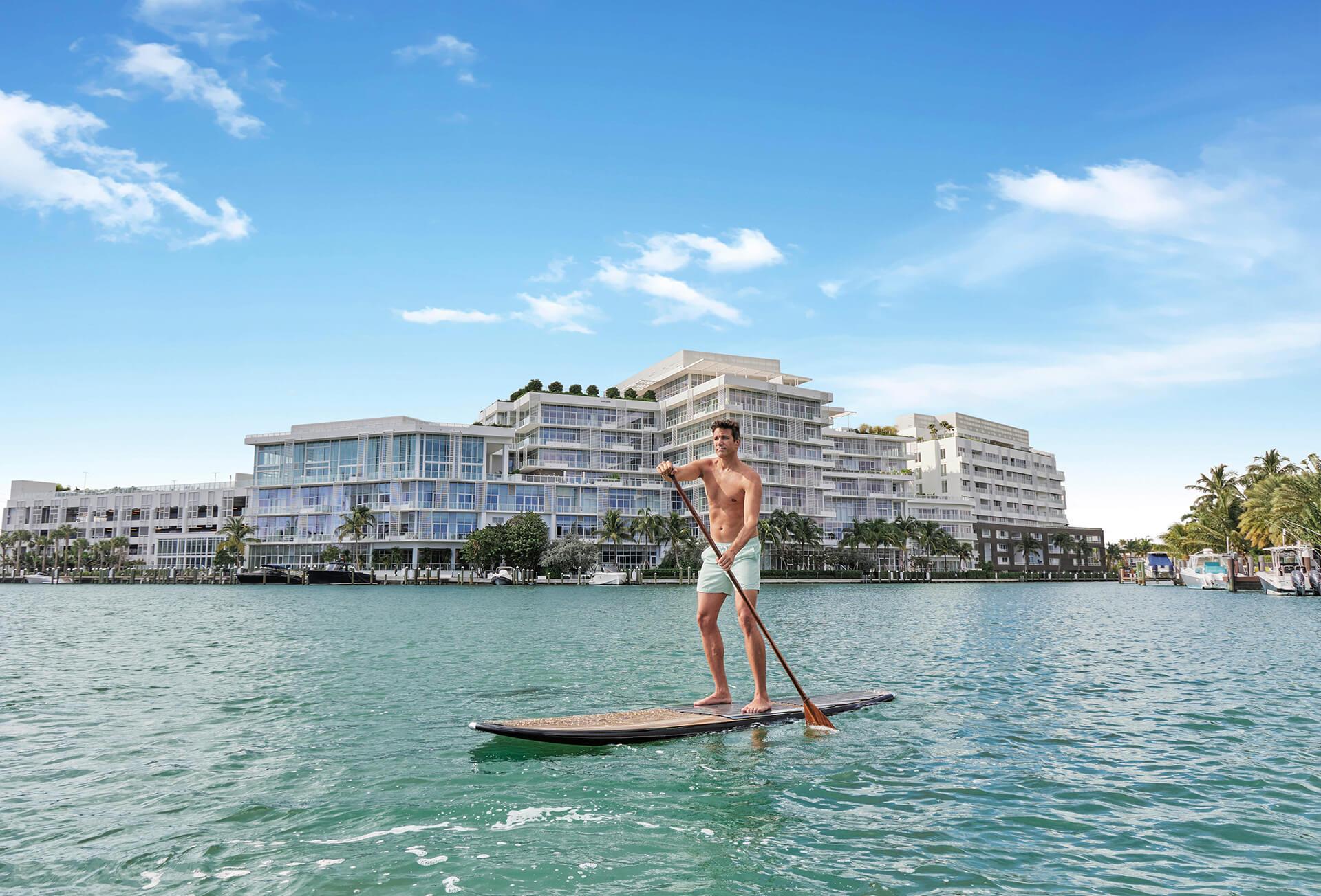 Ritz Carlton Residences Miami Beach Paddle Boarding