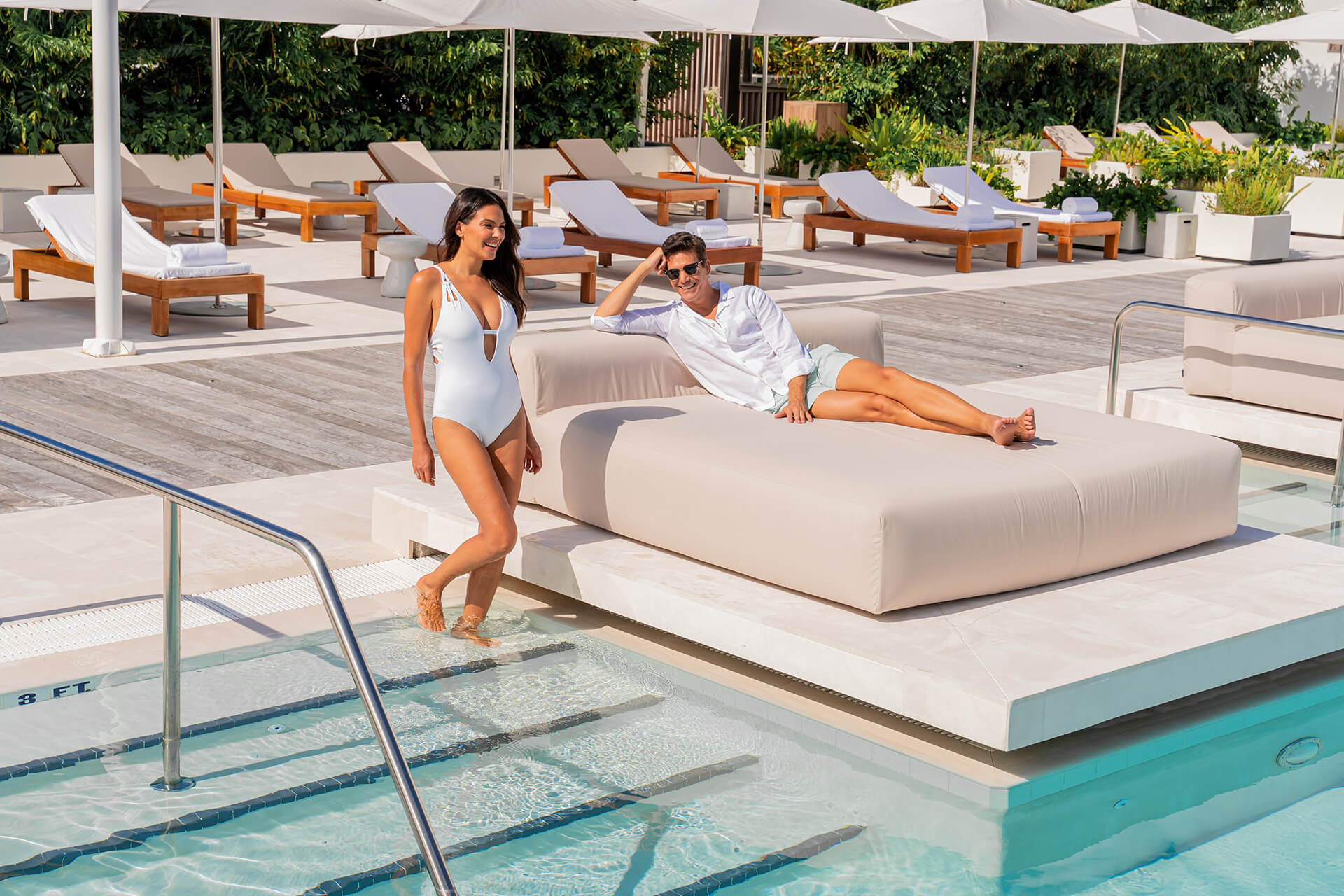 Ritz Carlton Residences Miami Beach Rooftop Pool Deck